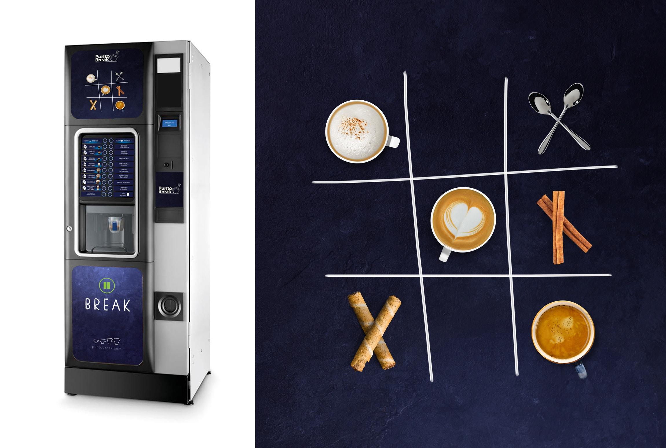 grafica distributore caffe